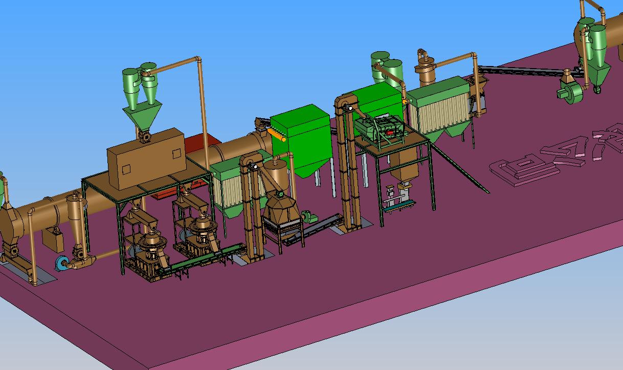 时产6T木屑颗粒工艺