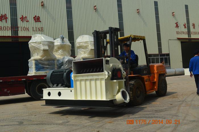3台560型号木屑颗粒机生产线发往浙江金华永康客户