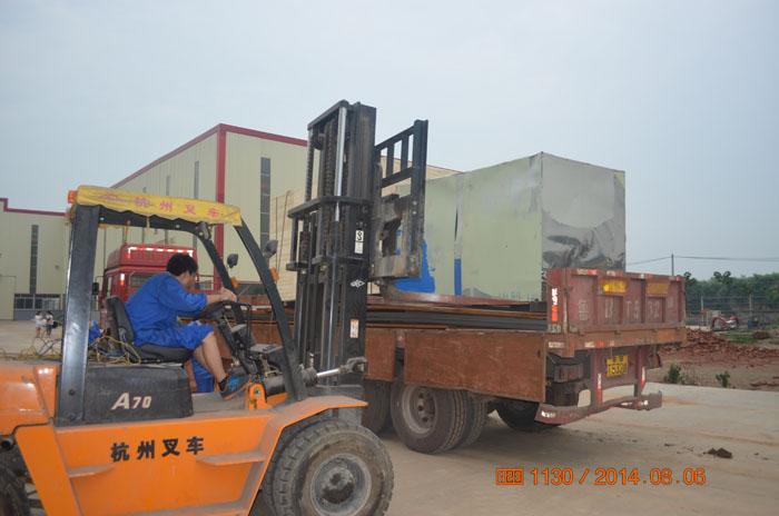 马来西亚客户订购的三台多功能粉碎机8.6号发货