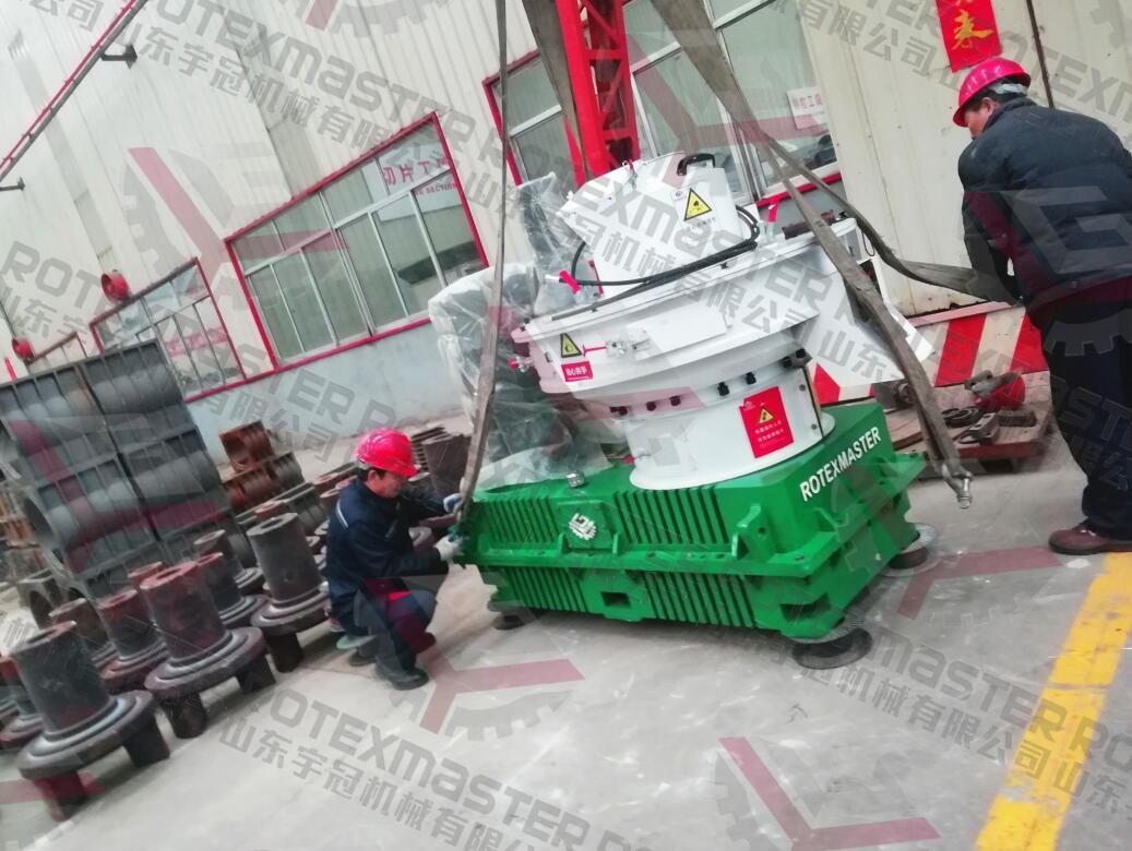 12月3日黑龙江YGKJ560-B稻壳颗粒机发货